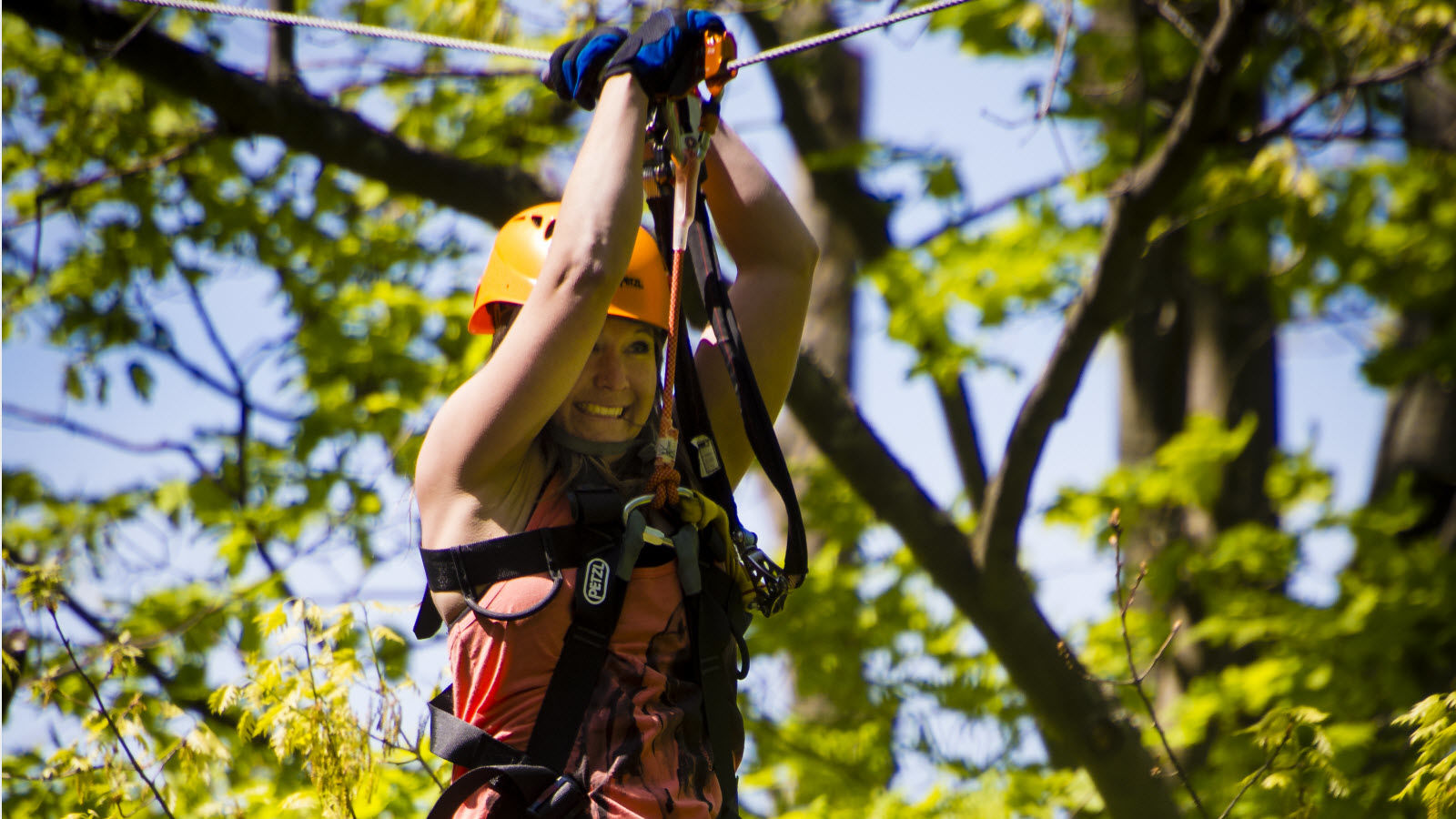 Blue Mountain Fall Activities - Zip Line